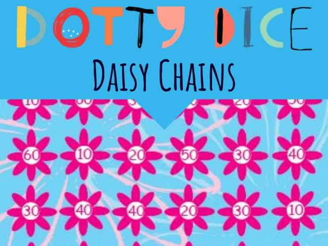 Numeracy Board Game - Daisy Chain - Advance Counting - Adding tens