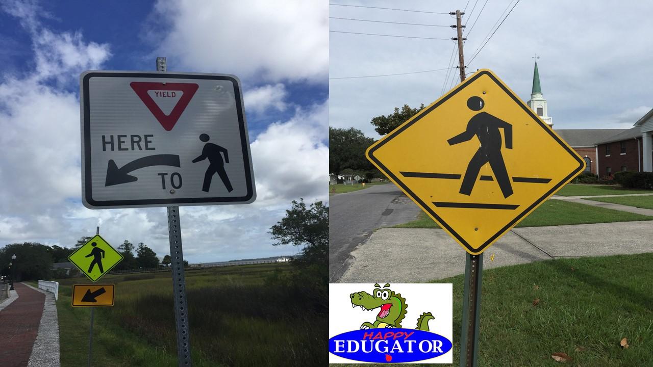 Dollar Stock Photos - Pedestrian Crossing Signs