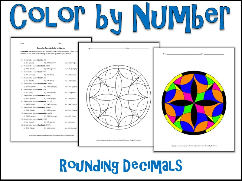 Rounding Decimals Color By Number By Charlottejames615 Teaching