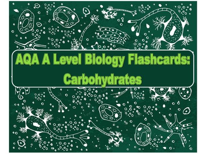 Flashcards AQA Carbohydrates A Level Biology