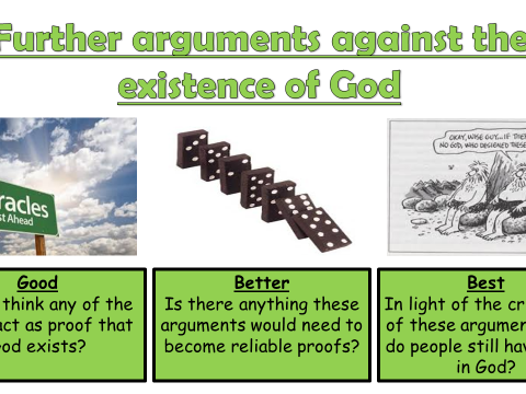 AQA A GCSE Theme C Existence of God and Revelation: Lesson 4 Arguments against the existence of God