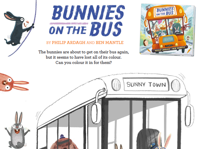 Bunnies on the Bus Activity Sheets