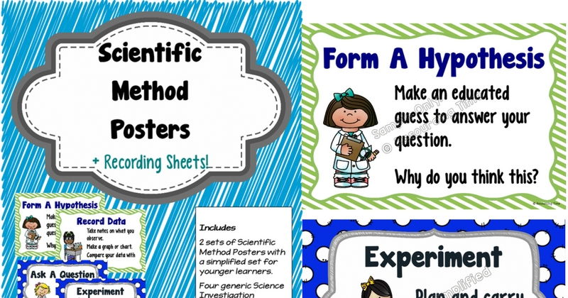 Scientific Method Plus Recording Sheets