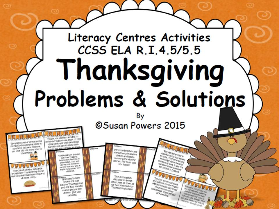 A Thanksgiving Problem and Solution Reading Activity