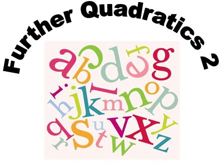Further quadratics 2