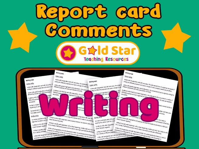Report Card comments - Writing