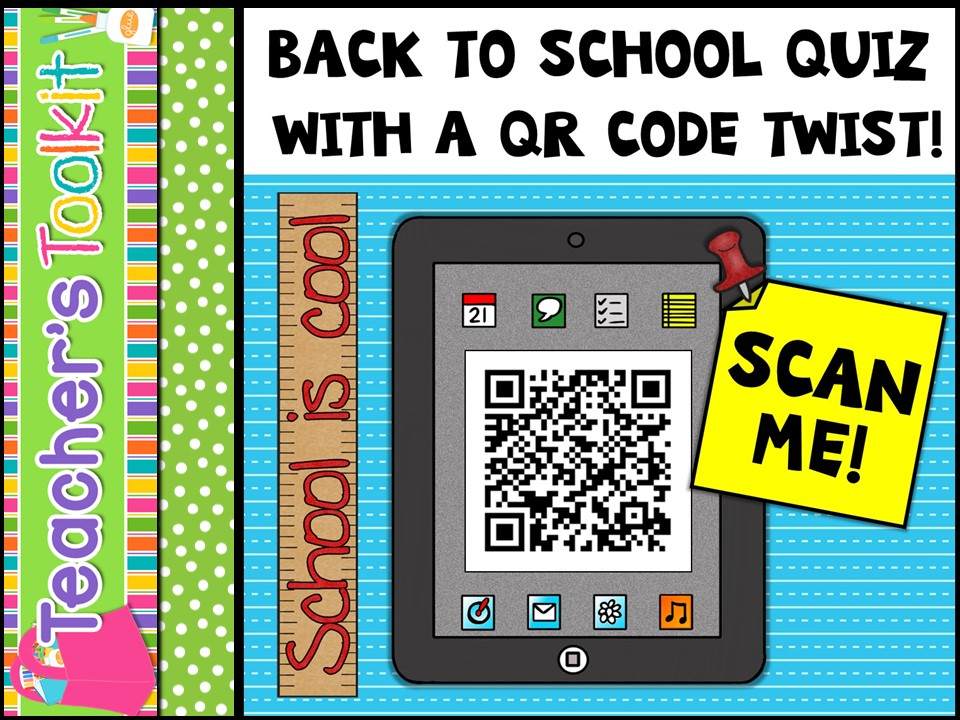 {Free} Back To School Quiz With A QR Code Twist!