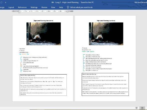 Creative Writing - High Level Planning