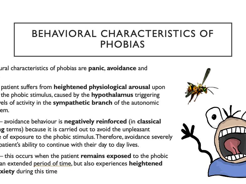 AQA Psychology A-level 3.2.2 Phobias