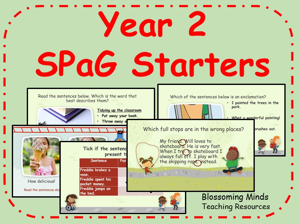 Year 2 SATs SPaG revision - 50 starters