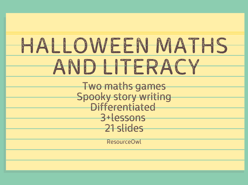 Halloween maths and literacy