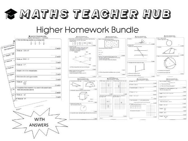 GCSE Higher basic skills HOMEWORK 100 pages with answers (Home Learning)