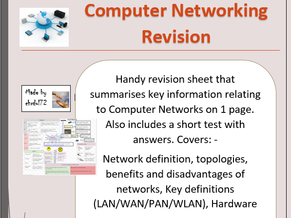 Computing revision - Computer Networking