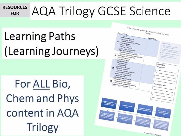 AQA GCSE Trilogy Science 2016 - Learning Path Journeys