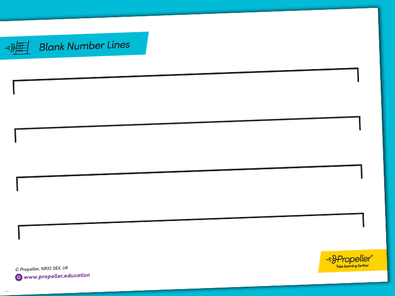 Blank Number Line Templates | CALCULATION