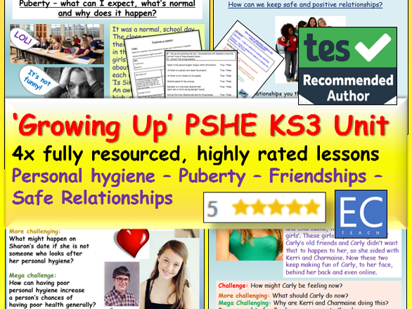 Puberty / Growing UP  PSHE Resources