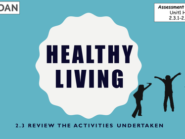 ASDAN Personal & Social Development Healthy Living Level 2