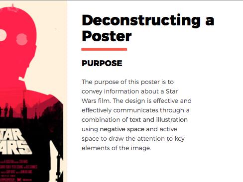 Deconstructing/Analysing Poster Design - Matt Needle PowerPoint/example