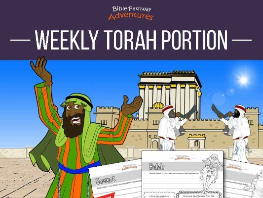 Weekly Torah Portion Coloring Activity Book for Kids