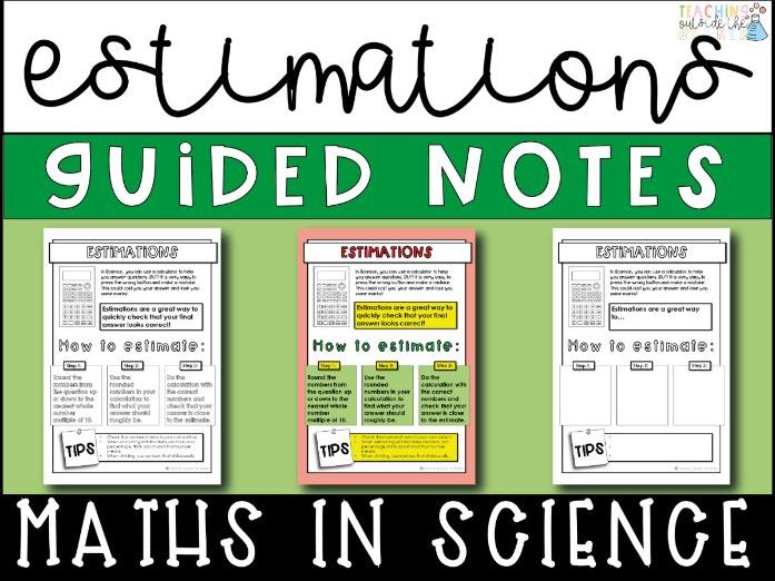 Estimations Guided Notes- Math Skills In Science