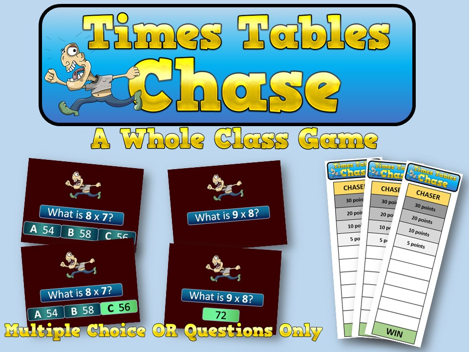 Times Tables Chase