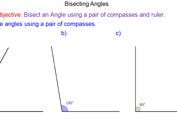 Constructing Angle Bisectors