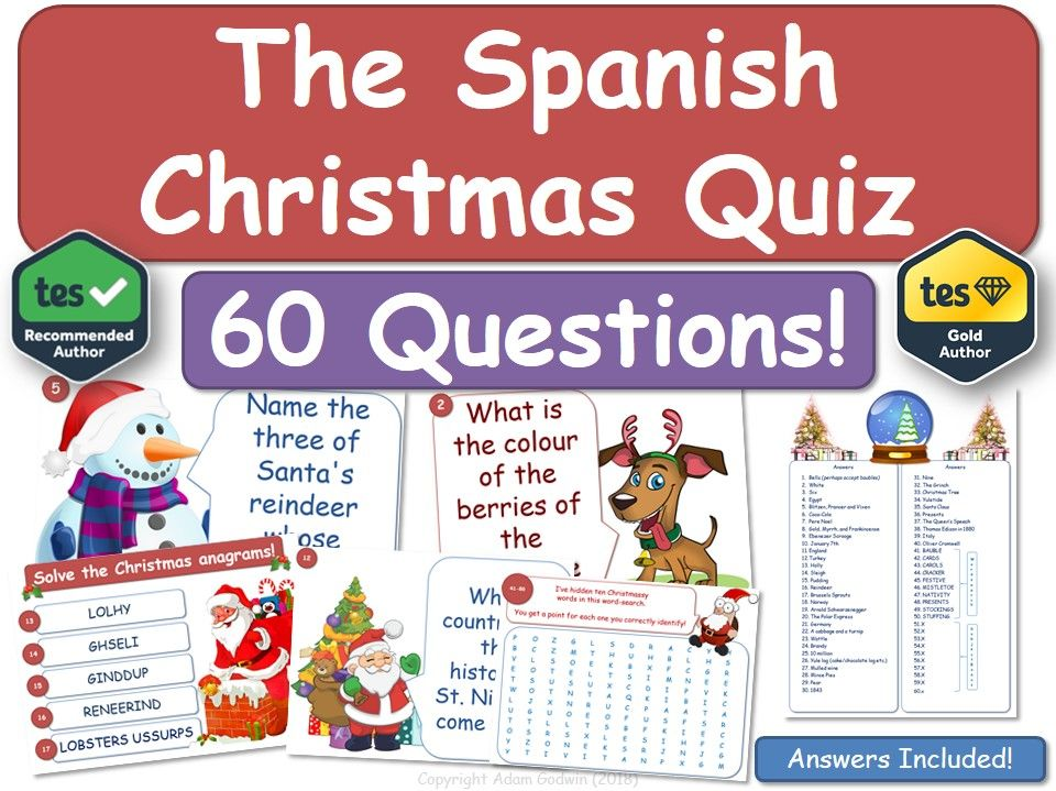 Spanish Christmas Quiz (MFL)