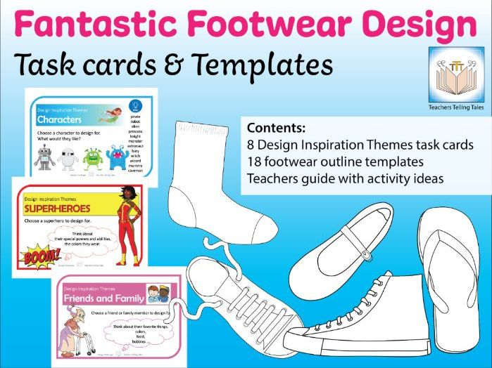 Fantastic Footwear Design Tasks