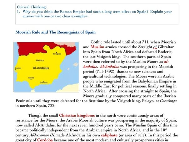 History of Spain Bundle (Early through Modern Era)