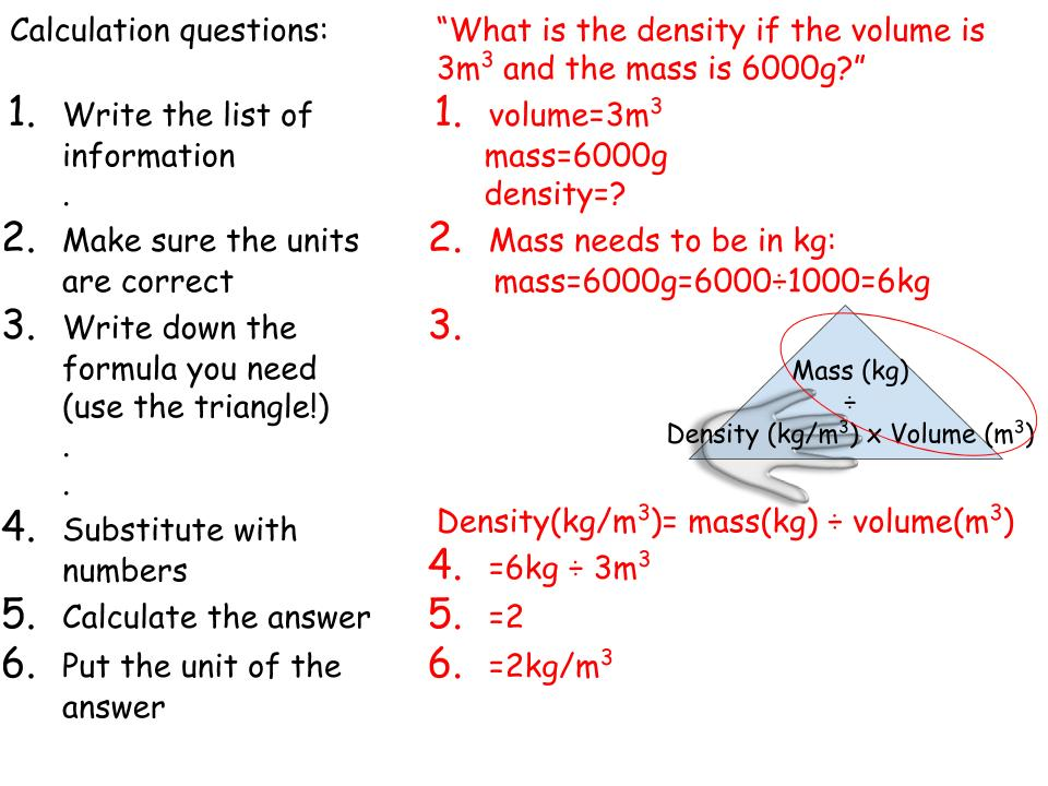 Review for any level in Science on using formulas and converting units
