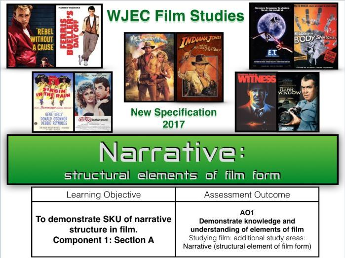 WJEC FILM STUDIES (NEW SPECIFICATION 2017) - Narrative: film form/ Component 1 Section A