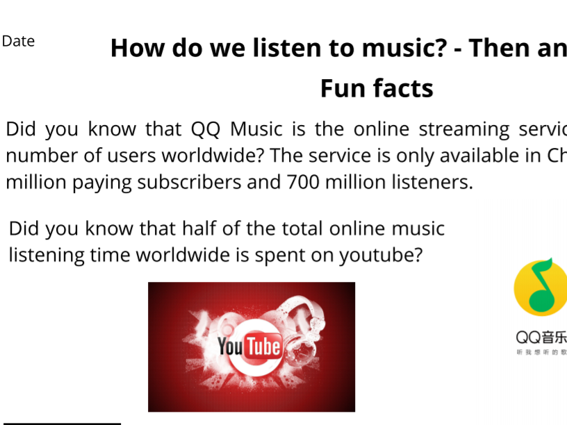 Music industry- Today and in the past