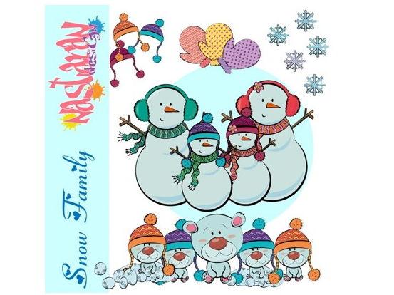 Snow Family Clip art