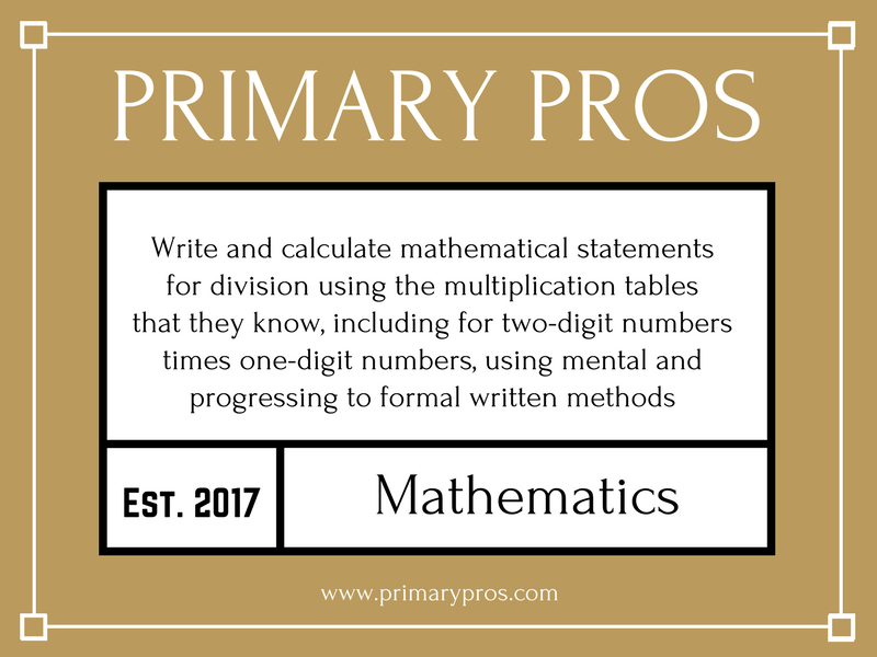 Write and calculate mathematical statements for division