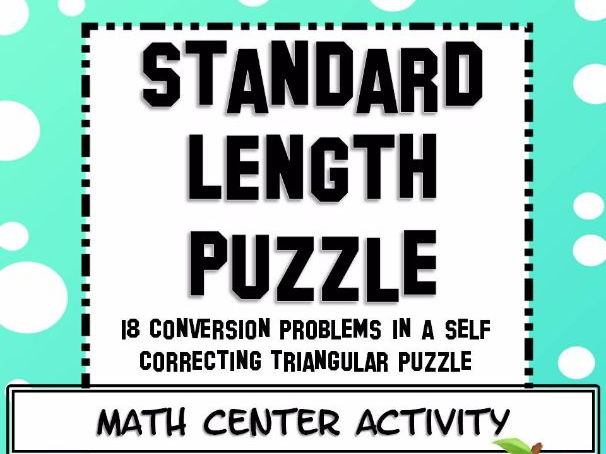 Measurement Standard Length Conversions Math Center