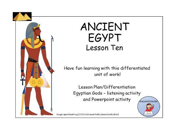 AncientEgypt:Gods-ListeningActivity+PowerpointActivity