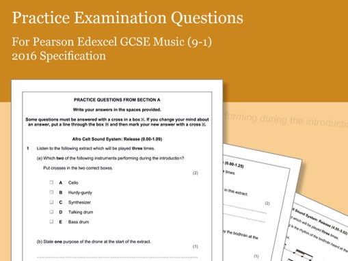 Practice Listening Questions for Pearson Edexcel GCSE Music (2016 Specification) - Area of Study 4