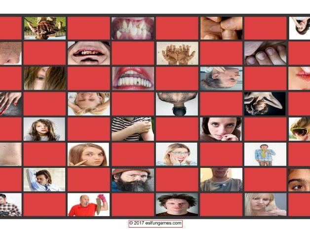 Personal Hygiene-Grooming Checkerboard Game