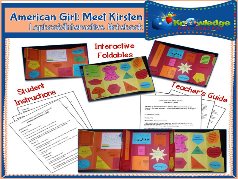 American Girl: Meet Kirsten Lapbook