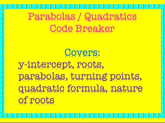 Quadratics Code Breaker