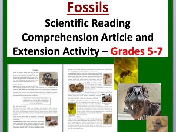 Fossils Comprehension Reading