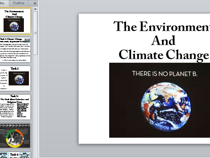 Climate Change, Pollution, Fracking and the Environment
