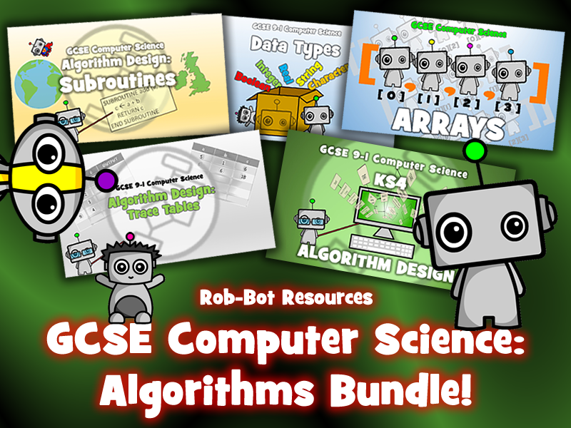 GCSE 9-1 Computer Science Algorithms Bundle