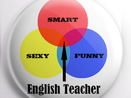 Teacher Badge - English Teacher