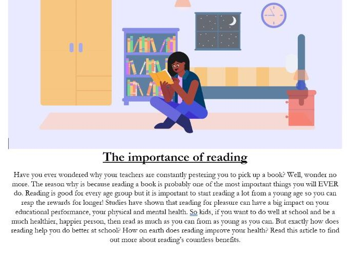 Reading comprehension: Why reading is so important?