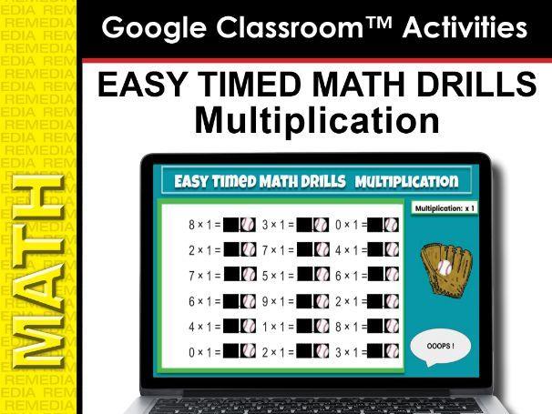 Google Slides: Easy Timed Math Drills Multiplication