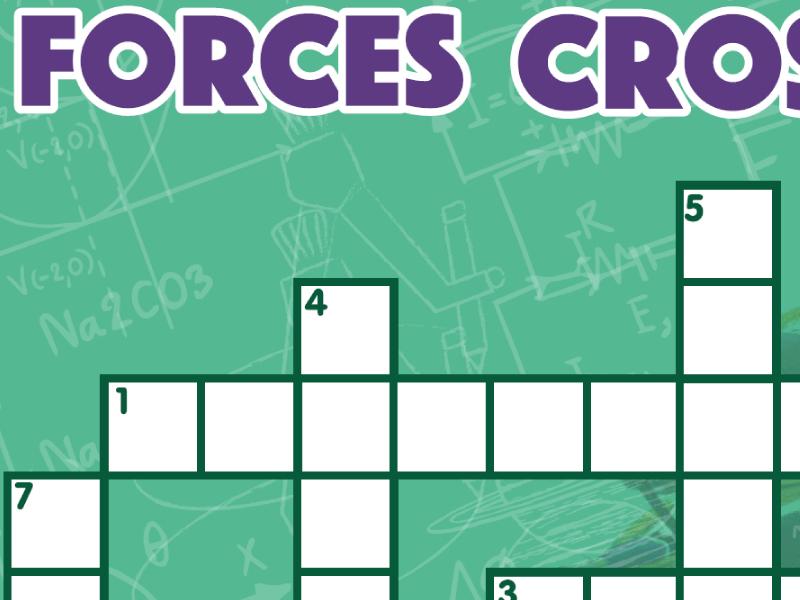 Forces  / Physics Crossword KS3