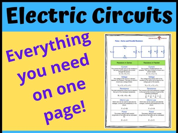 Notes for Resistors in Series & Parallel
