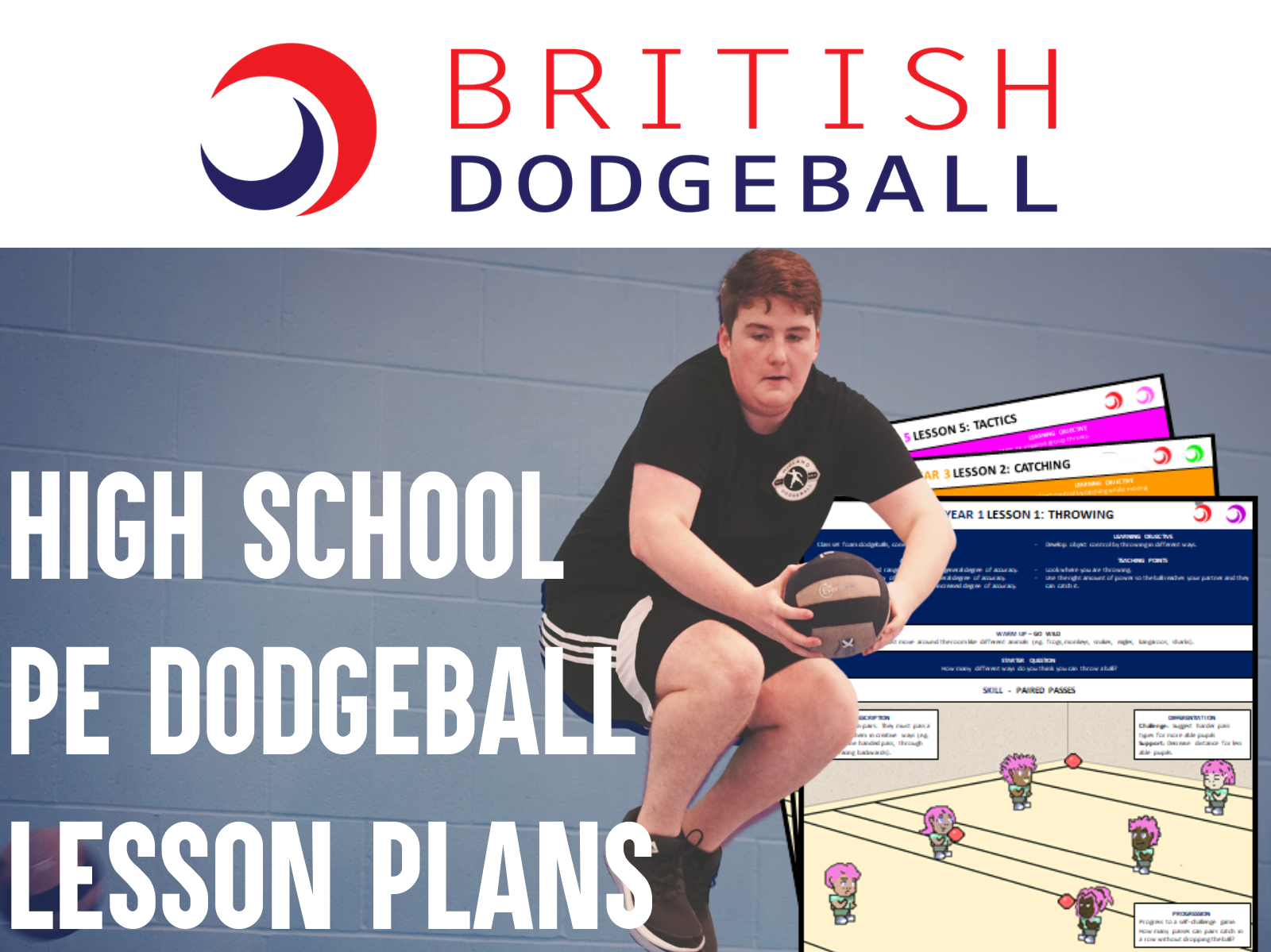 Dodgeball PE Scheme of Work - Secondary School Set