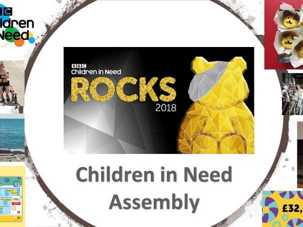 2018 Children in Need Assembly: 50% OF PROCEEDS TO CHARITY